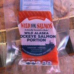 Salmon – frozen – 5 oz portion (.31 lb) – per lb