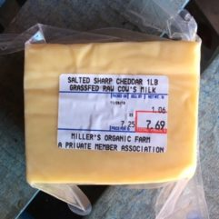 Sharp Cheddar – No Salt – 5-6 lb Block