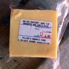Monterey Jack – No Salt – 5-6 lb Block