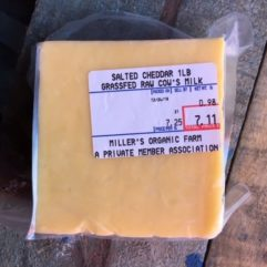 Mild Cheddar – No Salt – 5-6 lb Block