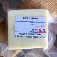 On Sale – Buffalo A2/A2 Cheddar – 1/2 lb